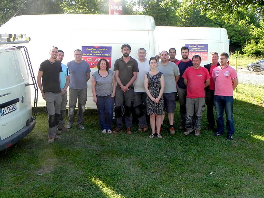 Photo de l'équipe de dépannage de Soulard Didier